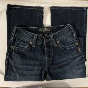 Silver Jeans Suki Dark Wash Flare - 25 x 32